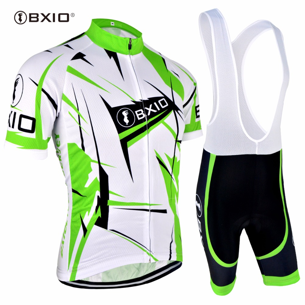 BXIO Brand Green Breathalbe Cycling Jersey Sets Summer Ultraviolet-Proof Pro Cycling Clothing Ropa Ciclismo Hombre BX-031