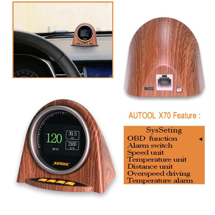 AUTOOL X70 OBD HUD