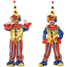f3e9837350faa Free shipping Halloween Cosplay Costumes Children Circus Clown Naughty Harlequin  Fancy Fantasia Infantil for Boys Girls Dress up