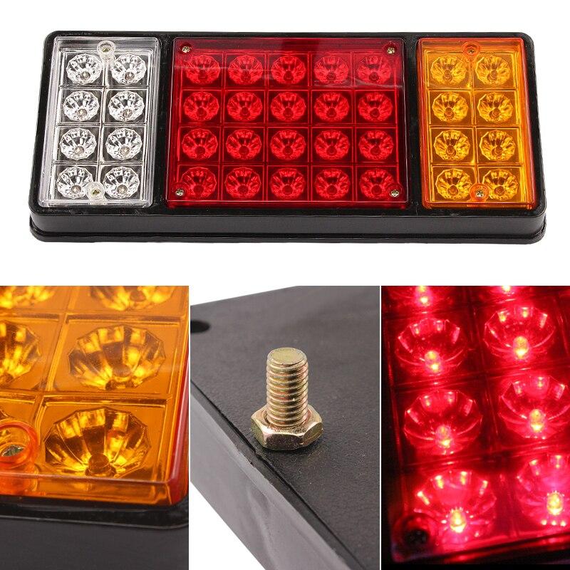 1 pair 36 LED 24V REAR Truck Auto Car Van Lamp Tail Light Trailer Stop Indicator Lamp Car Styling