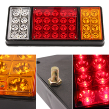 1 pair 36 LED 24V REAR Truck Auto Car Van Lamp Tail Light Trailer Stop Indicator Lamp Car Styling