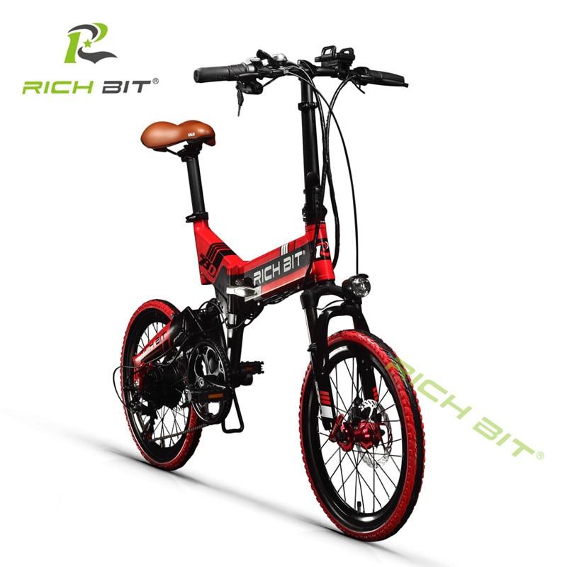 RichBit Mtb ebike 48 V 8AH Baterai Tersembunyi Lipat Sepeda Listrik 7 - Bersepeda - Foto 4
