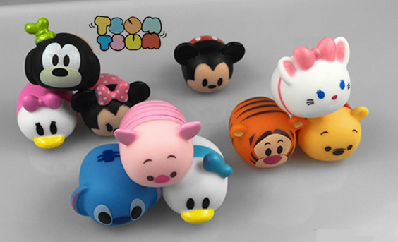 10pcs lot tsum tsum cute mini winnie mickey mouse stitch. Black Bedroom Furniture Sets. Home Design Ideas