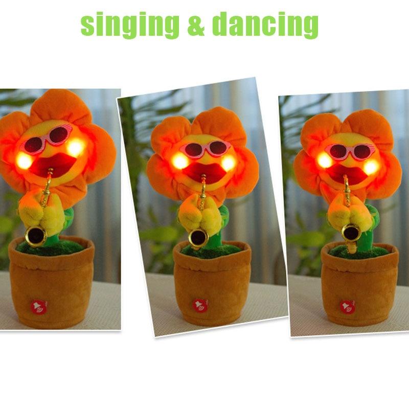 Cântând Dancing Flower Floarea-soarelui Plush Jucarii Funny Muzica - Învățare și educație