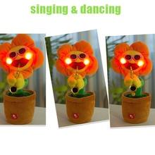 Bernyanyi Menari Bunga Bunga Matahari Mainan Mewah Lucu mainan musik Elektronik Pot tanaman hadiah Dekoratif