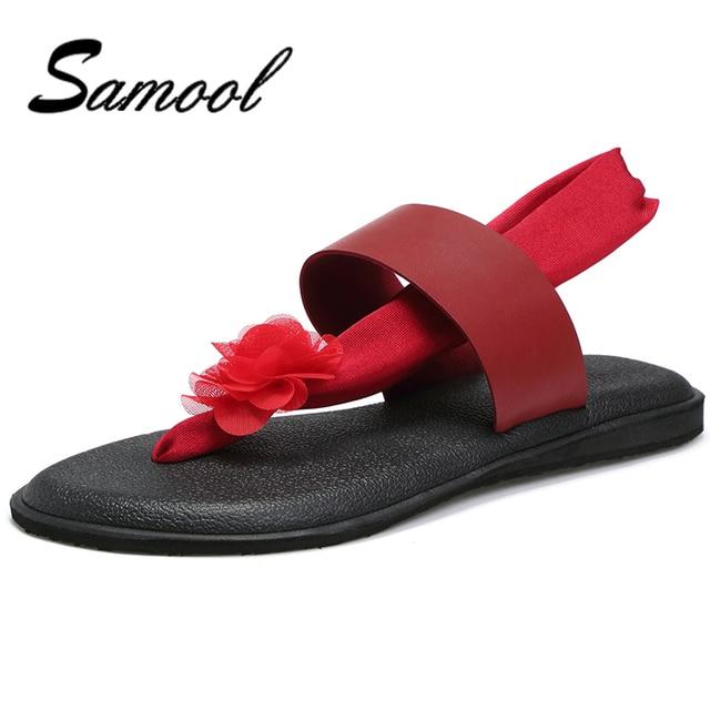 026787946 Summer Women Casual Slippers Flower Ribbon Sandals Flat Rubber Soles  Non-Slip Home Flip Flop Health Straw Lady Beach Shoe gx5