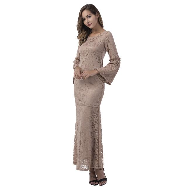 Fashion Brand Lace lace dress women top with skirt 2 pieces khaki B8012