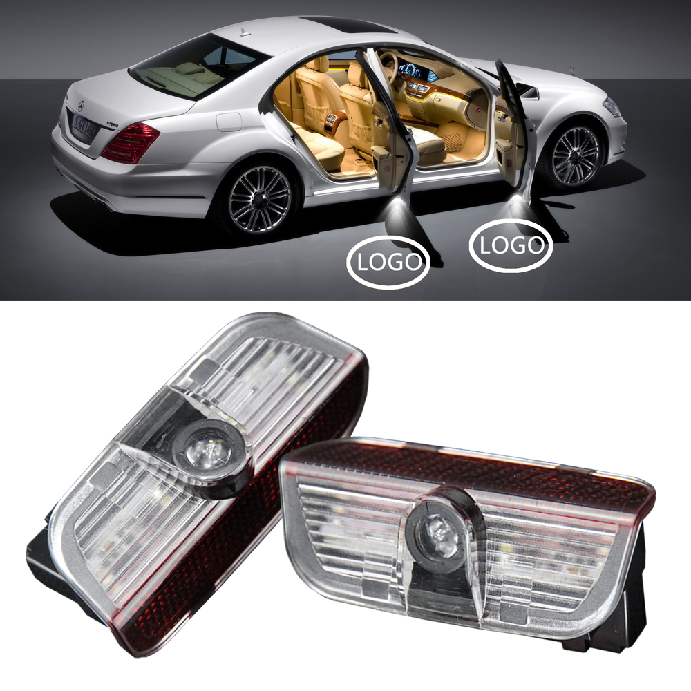 1 pair Car Door for skoda Projector lamp Ghost Shadow Courtesy Welcome Light For SKODA Superb 2009 to 2014