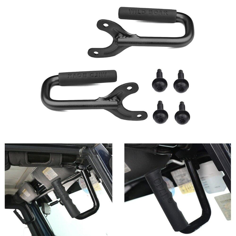 2x Black Front Hard Mount Grab Bar Handles for 97-06 Jeep Wrangler TJ Unlimited видео очки homido grab black
