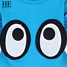 HE Hello Enjoy kids clothes set spring autumn boys clothing girls clothes long sleeve tops +pants suit cartoon children clothing