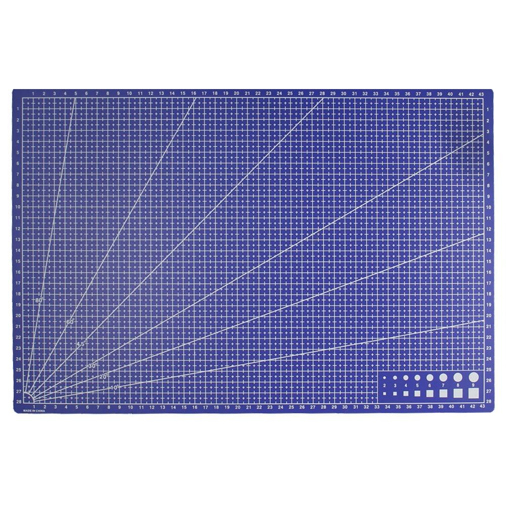 1 unid A3 PVC rectángulo líneas de rejilla Cúter Esterillas herramienta plástico DIY Herramientas 45 cm * 30 cm