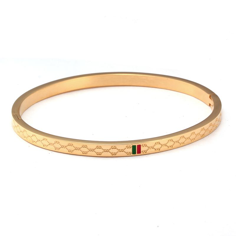 2 - Brassard Breloque, Bracelet Pour Femmes, Acier Inoxydable Plaqué Or 4mm 6mm 8mm,