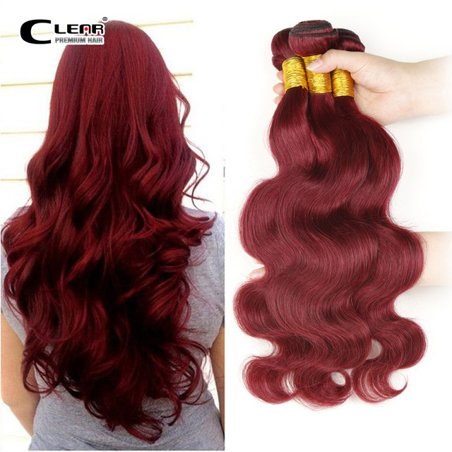 Wine Red Peruvian Body Wave Hair Weave 100 Human Unprocessed Hair