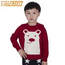 1-5yrs мальчики девочки Свитер с изображением медведя модные брендовые хлопковые для девочек Вязанная одежда для детей осень пуловер с длинными рукавами детская одежда