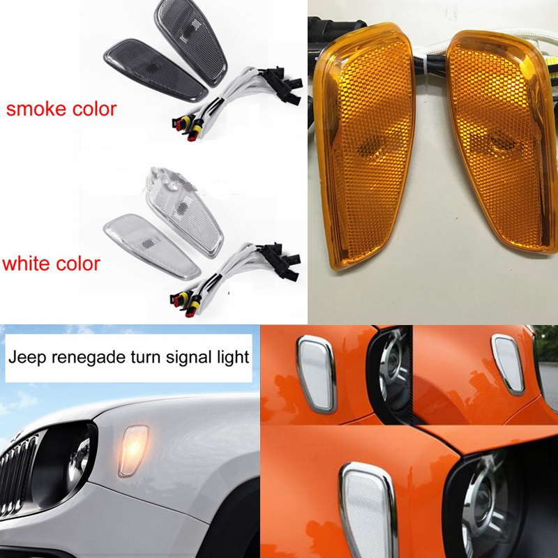Led Lights Jeep Renegade: For Jeep Renegade Parts Front Fog Lights Cover ABS For