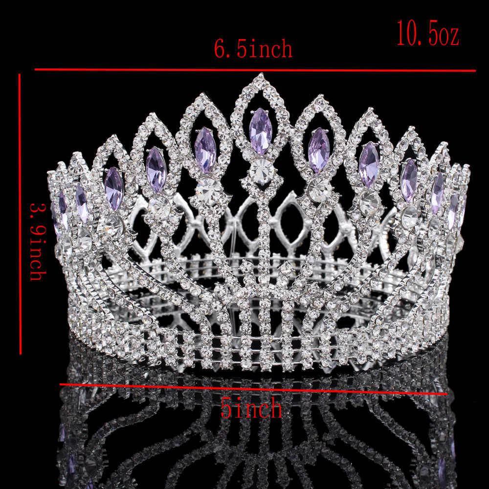 ... Vintage Big Rhinestone Prom Princess Crown Crystal Bride flower Tiara  Bridal Head Jewelry Pageant Wedding Hair c05970f32713