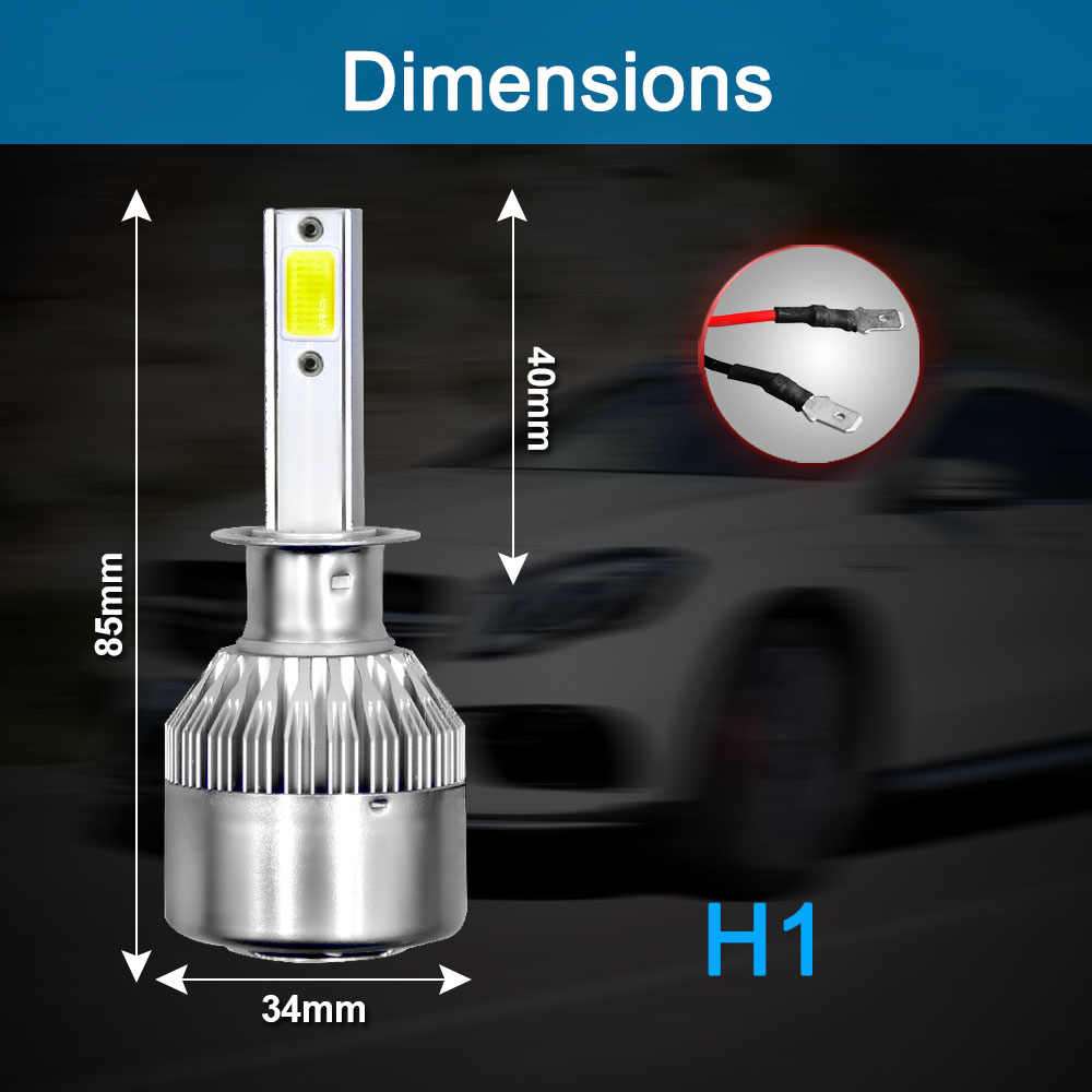 2 Pcs Car Lights Bulbs LED H4 H7 9003 HB2 H11 LED H1 H3 H8 H9 880 9005 9006 HB4 HB3 H13 9004 9007 Auto Headlights 12V Led Light