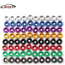 Free Shipping 10 Pcs/Pack JDM Style Aluminum Fender Washers and Bolt for Honda Civic Integra RSX EK EG DC RS-QRF002-TP fit for 99 00 honda civic ek jdm driving fog lights clear lens usa domestic free shipping hot selling
