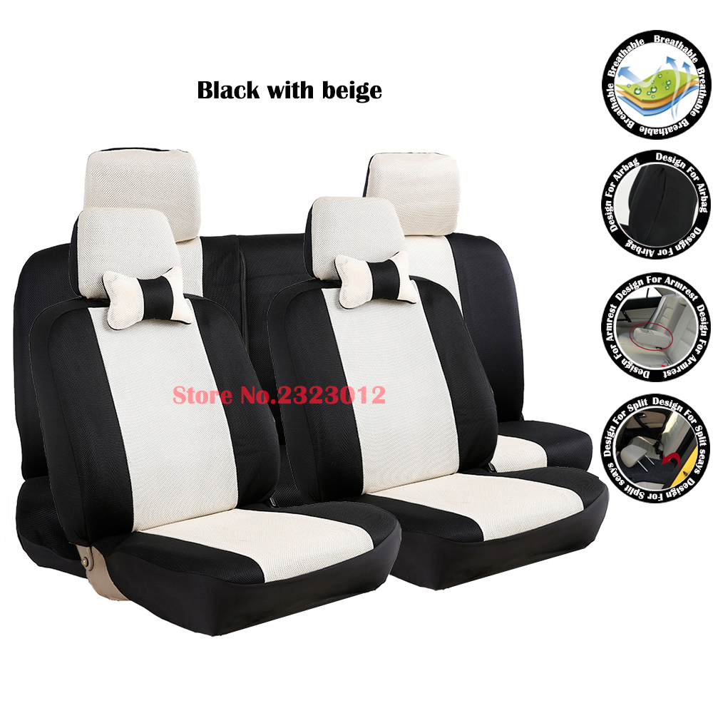 Universal car seat cover For Ford Focus 2 ford Focus 3 Kuga Mondeo Ford Fiesta seat covers accessories styling black/gray /red tonlinker 3 pcs diy car styling pu leather full surround special food mat cover case stickers for ford fiesta 2013 accessories
