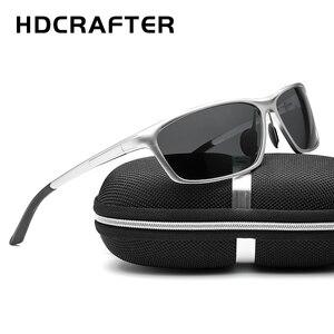 Image 4 - HDCRAFTER الألومنيوم المغنيسيوم نظارات الرجال الاستقطاب القيادة نظارات الشمس الرجال oculos الذكور نظارات اكسسوارات
