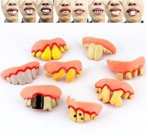 5 шт., украшения для Хэллоуина, смешная шутка, зуб с, тулые зубы, вечерние сумки, Необычные платья, креативные шутки, ужасы, игрушки Смешные гад...