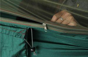 Image 5 - Hamaca portátil multiuso para acampar, senderismo, viaje, con mosquitera, saco, columpios en forma de unnel, cama, tienda de uso al aire libre