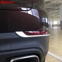 Bbincar Exterior Accessories For Porsche Cayenne 2018 2019 ABS Chrome Rear Tail Fog Lamp Light Trim Styling 2Pcs