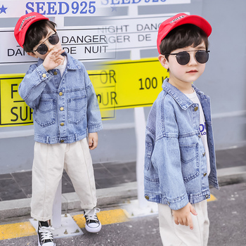 Kids Denim Jacket Boys Spring 2019 Autumn Fall Boutique Children Toddler British Style Top 1 to 7 Years