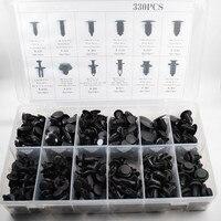 Sosung 330pcs Auto Car Push Retainer Pin Rivet Trim Clip Panel Body Moulding Assortments Kit For