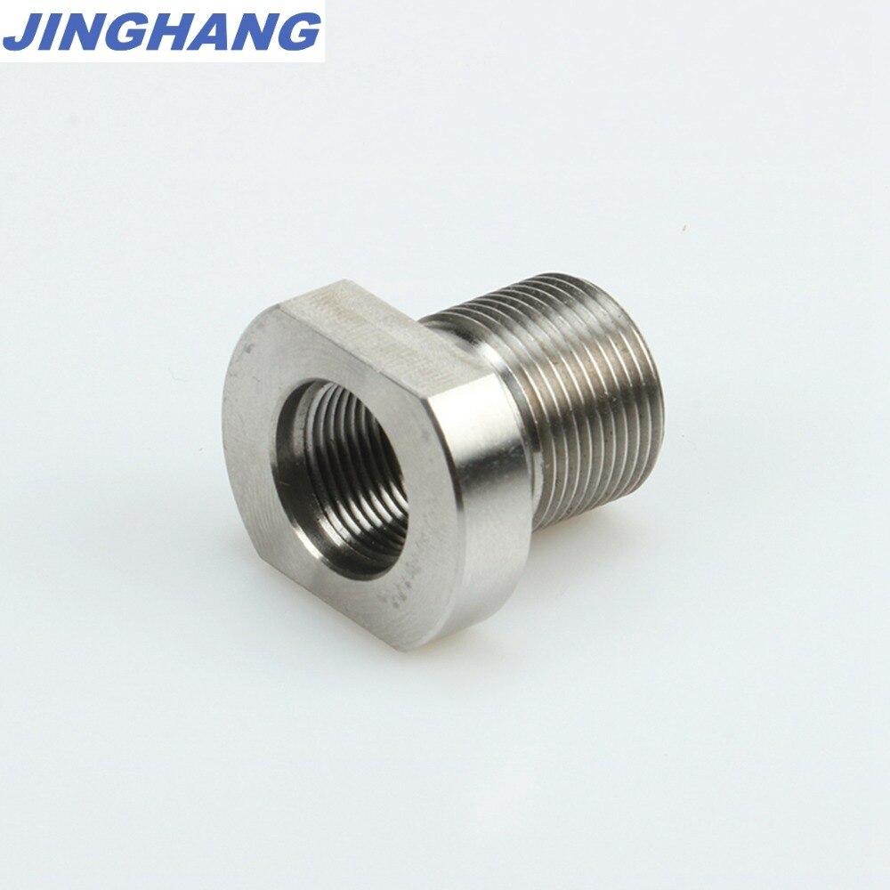 2-28 adaptador de supressor de aço inoxidável