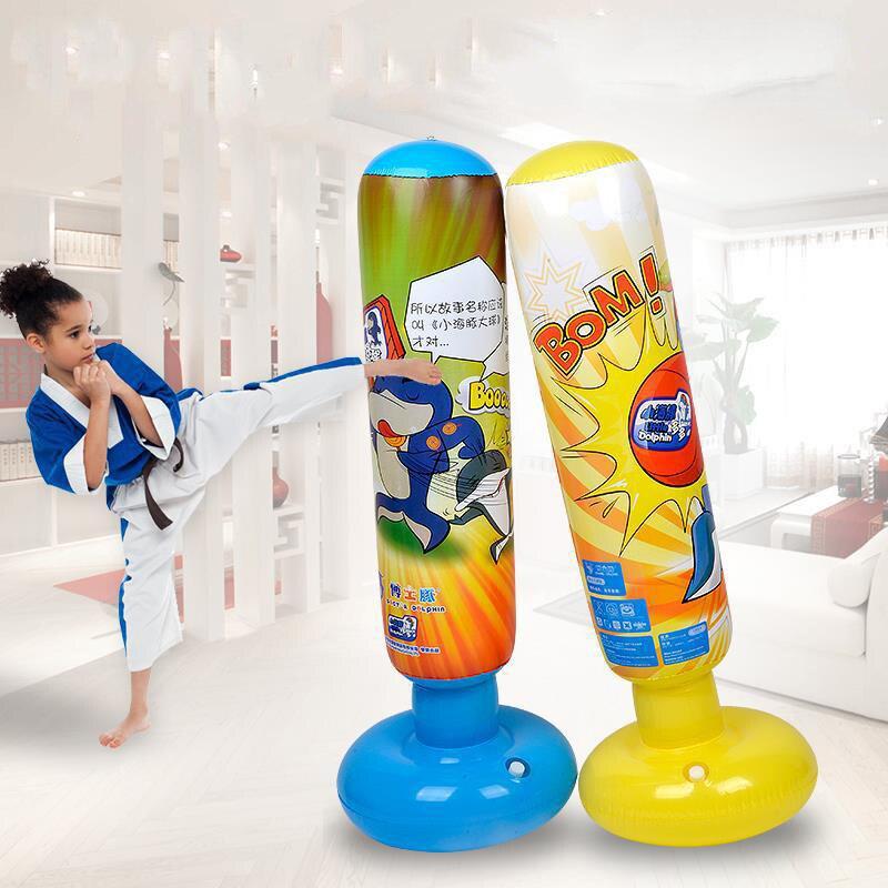 125cm Training Fitness Inflatable MMA Sports Speed Boxing Sandbag Boxing Sandbags Punch Target Bag Hook Hanging Bag for Children