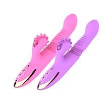 Vibrators For women font b Dildo b font Sex Toy Rabbit Vibrator Vagina Clitoris Female Massager