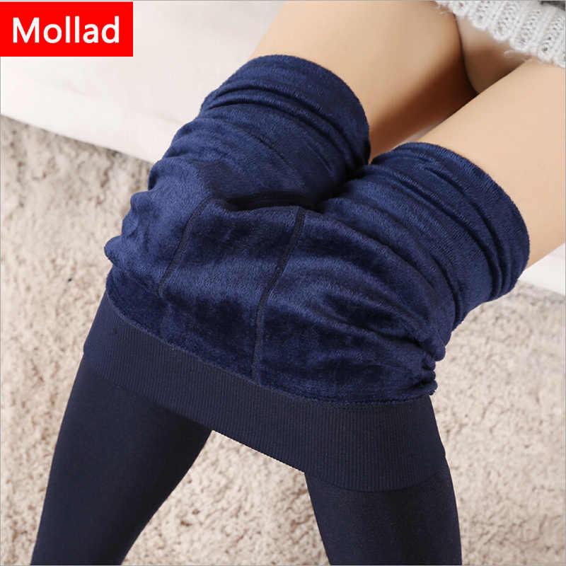 Mollad 2018 Nieuwe Winter Vrouwen Leggings Mode Plus Fluwelen Winter Warm Legging Hoge Elastische Dikke Vrouwelijke Leggings