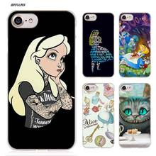 BiNFUL Alice in Wonderland Hard Clear Case Cover Coque for iPhone X 6 6s 7 8 cbedc1dddf32