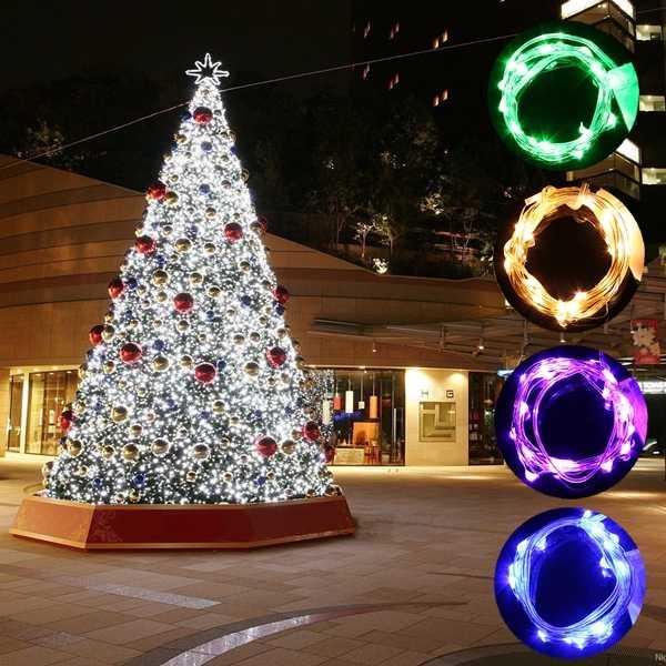LED กันน้ำกันน้ำ 1M Sliver ลวด Corker String ไฟ Fairy สำหรับงานปาร์ตี้กลางแจ้งในร่มคริสต์มาสตกแต่งโคมไฟ