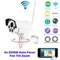 HI3516C + SONY IMX323 HD 1080 P Мини Пуля Wi-Fi PTZ Ip-камера 4X зум Автофокус 2.8-12 мм 2-МЕГАПИКСЕЛЬНОЙ Открытый Беспроводной ИК Onvif SD Карты