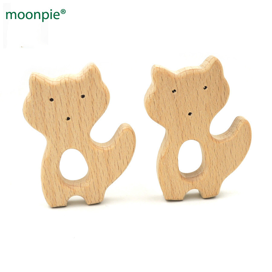 Baby Care Methodical 20pcs Organic Baby Teether Cute Fox Smooth Shaped Beech Fox Charm Baby Boys Gift Nursing Toy Baby Wooden Teether Ea225 Moderate Cost