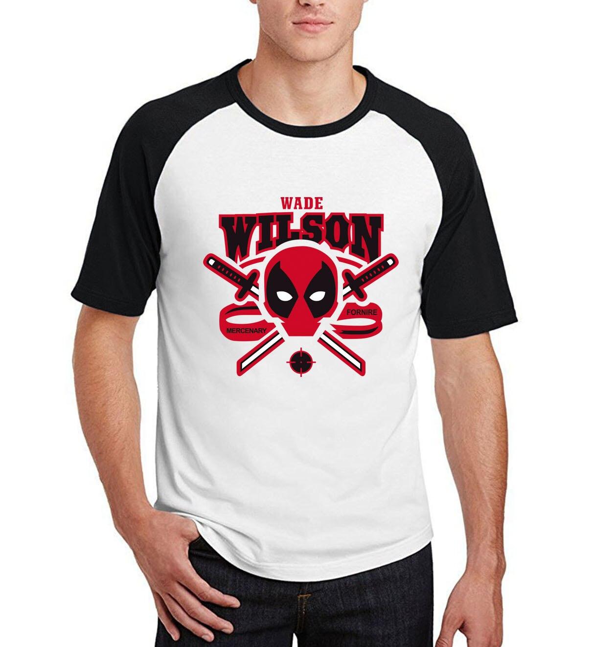 2019 summer  fitness hip-hop t-shirts men's marvel deadpool harajuku t shirts funny raglan short sleeve tops camisetas