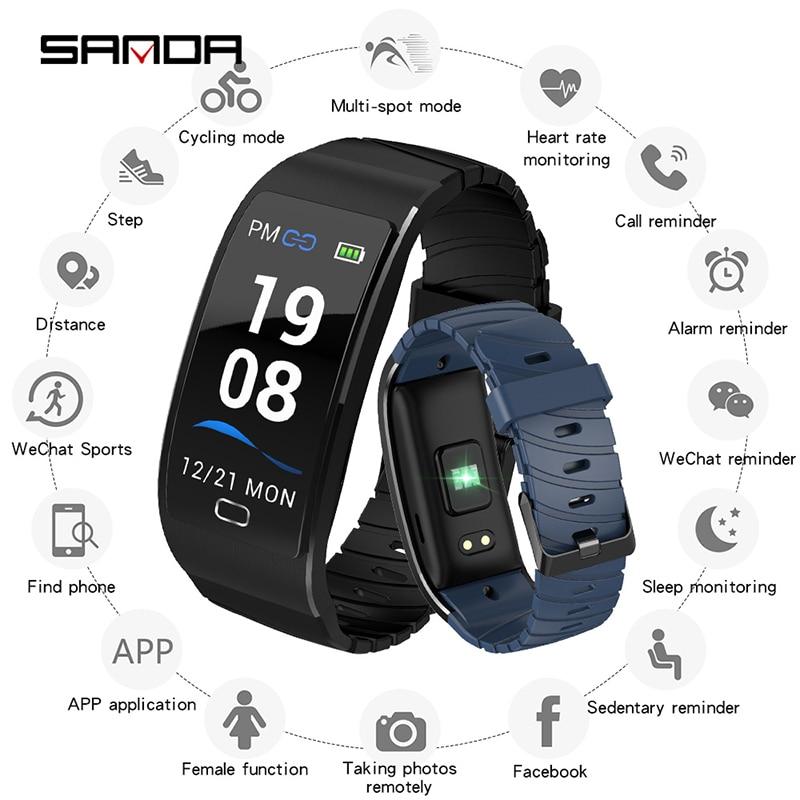 2019 montre connectée Hommes Bluetooth pour Android iPhone montres de sport Femmes IP68 bracelet de remise en forme de Fréquence Cardiaque Moniteur de Pression Artérielle