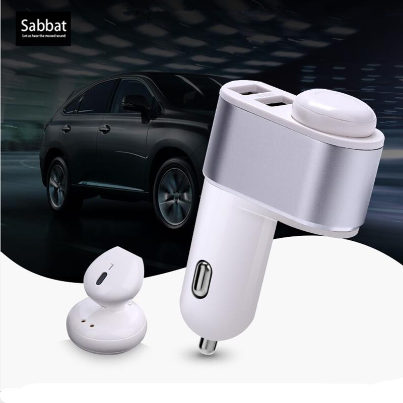 Espanson I7 In-Ear Portable mini Wireless Bluetooth Earphone Car Charger Bluetooth and 3.1A Fast Car Phone Charger For iphone LG
