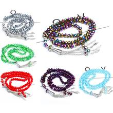 5*5 5*7mm Austria faceted Crystal Glass Beads Fashion Beaded bracelet Prayer Beads Islamic Muslim Tasbih Allah Mohammed Rosary все цены