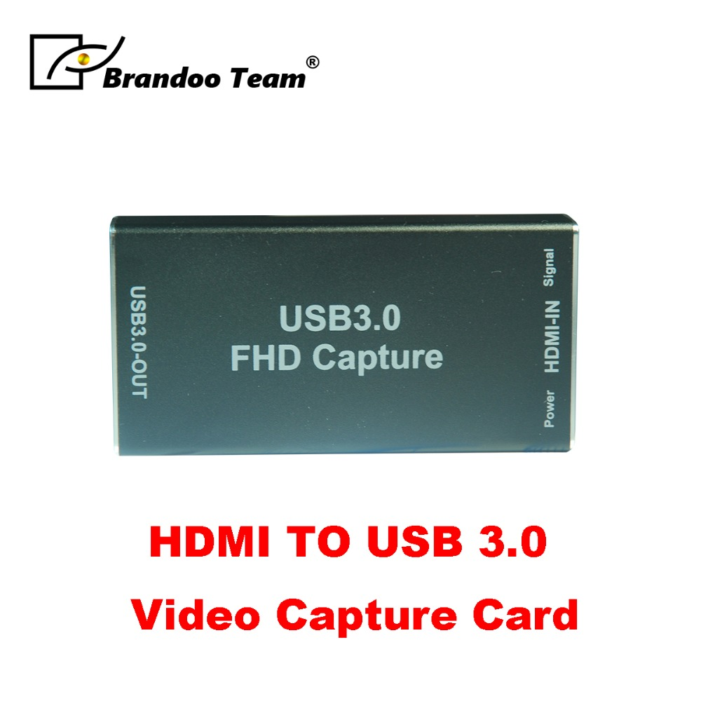 Black USB 3.0 1080P HDMI Video Capture Card Recording for Game Live Video Streaming недорго, оригинальная цена