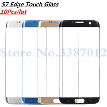10Pcs/lot For Samsung Galaxy S7 Edge G935F G935A LCD Display Outer Touch Panel Screen Glass Replacement Front Glass Lens