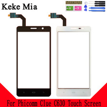 Keke Mia 5.0 Mobile Phone Touch Screen For Phicomm Clue C630 Panel Glass Lens Touchpad Digitizer Free Adhesive + Wipes