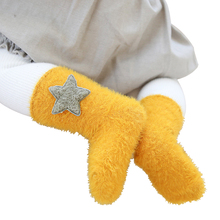 Lawadka Newborn Baby Socks Autumn Winter Fashion Baby Girl Socks Velvet Baby Boy Socks Stuff Clothes Kids Socks Accessories cheap Children h11 15 1 Unisex Fits true to size take your normal size cartoon COTTON Thick warm 0to1 1to3 years