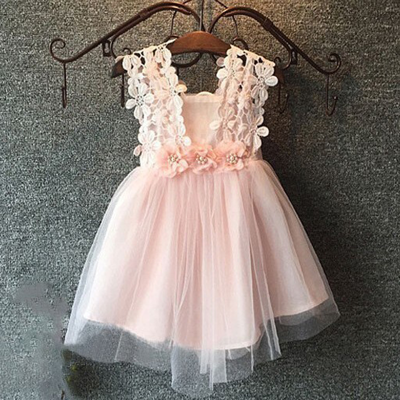 Flower Girls font b Dresses b font For Party and Wedding Toddler Kid s Strap Floral