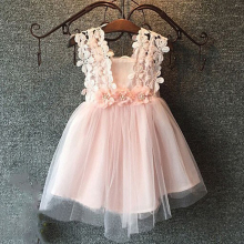 Flower Girls Dresses For Party and Wedding Toddler Kid's Strap Floral Dress Baby Girl Clothes Baptism Party Boutique Clothing