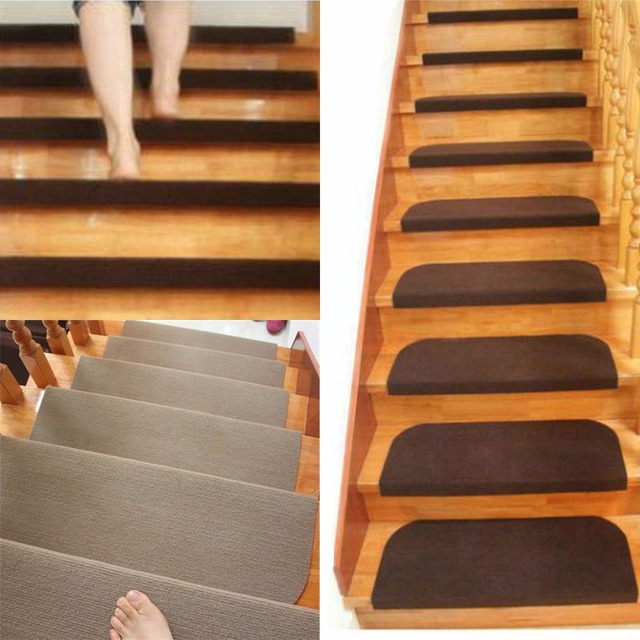 Mayitr Non Slip Carpet Stair Treads Mats Staircase Step Rug Protection Cover 1 4