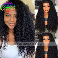 Kinky Curly Black Synthetic Lace Front Wig With Baby Hair Thick Full Head Heat Resistant Synthetic Wigs For Balck Women In Stock