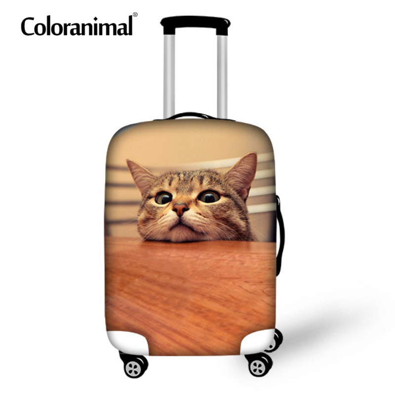 Coloranimal Cute Cat Luggage Protect Cover 3D Pug Dog Printed Suitcase Trunk Case Bag Cover Travel Accessories Zipper 18-30 Inch